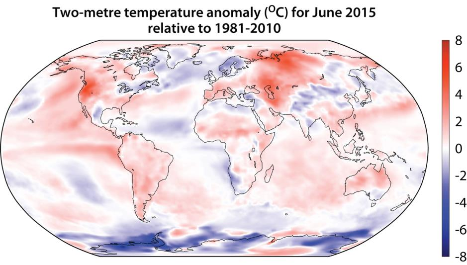 ECMWF : Highest global temperature anomaly since 2009/10